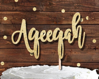 AQEEQAH Cake topper, NEW Baby cake topper, Islam, Islamic, Muslim cake topper, cottoncandyco