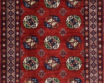 Beautiful Afghan Turkoman Ersari rug 100% best wool 172 x 240 cm