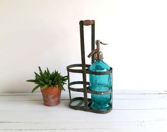 Vintage bottle holder 'Duo' * French vintage bottle rack * bottle storage * farmhouse home decoration