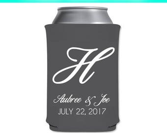 Monogram Can Cooler,Wedding Can Cooler,Wedding,Weddings,cooler,can cooler,celebrations,drink,drinks,monogram,keepsake,favor,favors,gifts