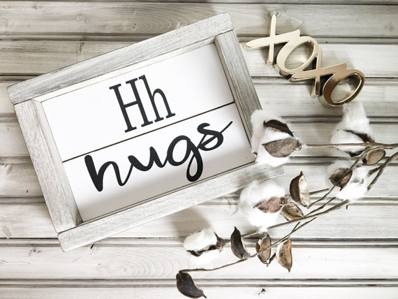 Hugs Wood Sign, Shiplap Sign, Mini Wood Sing, Hugs Sign, Valentines Day Sign