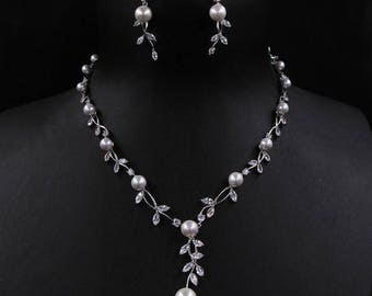 Bridal jewelry set pearl and crystal, bridal jewelry set simple, bridal jewelry set necklace, bridal jewelry sets, wedding jewelry for bride
