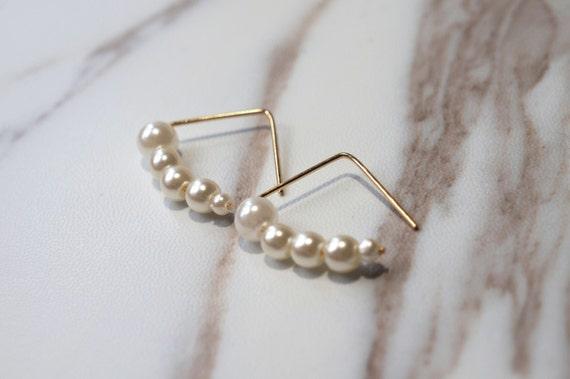 Geometric Gold Triangle Earrings