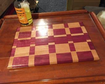 Custom Engraved Purple Heart Cutting Board