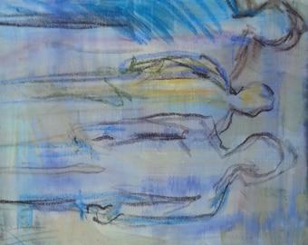 Abstract Original Painting Figurative Contemporary Modern Art - Spectator Series