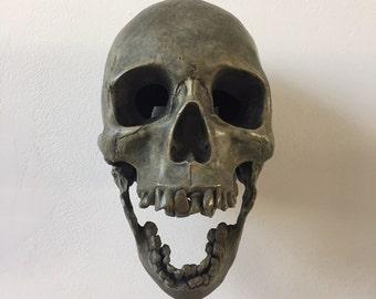 Sweet Dreams - Cast Bronze Skull Wall Art Sculpture