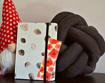 Dark grey melange knot cushion