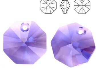 Swarovski Elements, 6401, Octagon Tanzanite 12mm, Swarovski Octagon, Swarovski crystal, violet crystal, purple crystal
