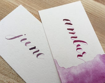 Place Cards - Handlettered Calligraphy
