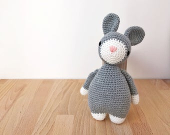 BUNNY Crochet Amigurumi, crochet toy, baby shower gift, gift for kids, gift for baby, easter bunny, newborn photography prop