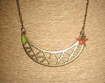 Bronze breastplate necklace