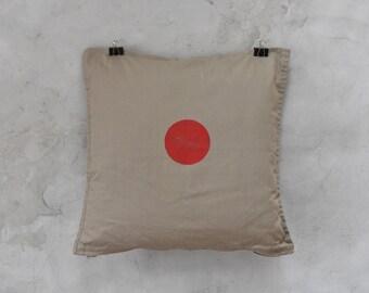 LINEN pillow case with handmade block print
