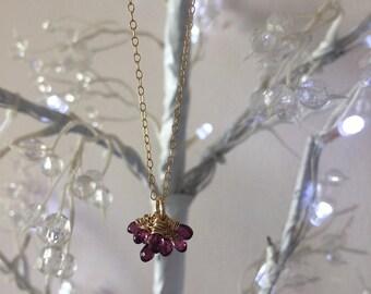 Rhodolite garnet necklace