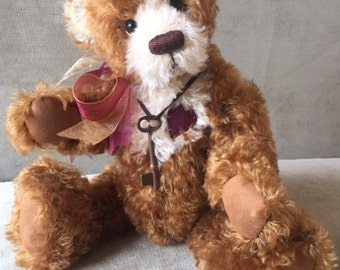 Riley - artist made, hand-made,  mohair, teddy bear, collectible, one-of-a-kind