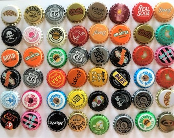 55+ Varieties GUARANTEED 100 NO DENTS Soda Bottle Caps Vintage, Brand new Uncrimped, Lot Assorted Vintage Soda Bottle Caps