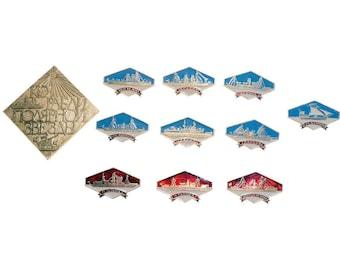 Set 11 North Star Ships Badges Pins Shipbuilding Seamanship Art Collection Memorabilia Souvenirs