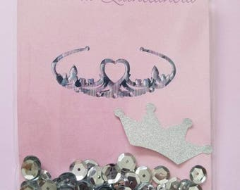 Quinceañera shaker greeting card/birthday