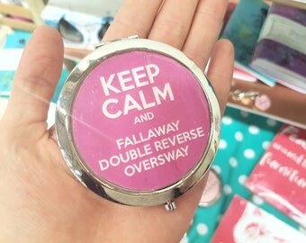 Keep Calm Compact Mirror Ballroom Dancing Latin Dancer Dancesport Pocket Travel Mirror