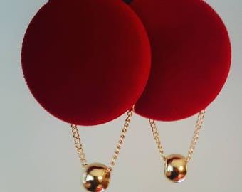 "Red Velvet ""cleopâtre"" earrings"