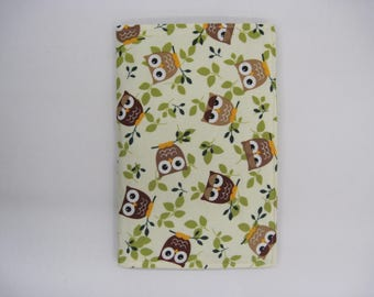 Notepad holder, list organizer, purse accessory, school accessory, fabric portfolio, teacher gift