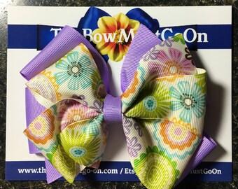 Easter Hair Bows/Easter Bow/Spring Hair Bows/Spring Bows/Pastel Hair Bows/Light Purple Bows/Small Hair Bows/Small Bows