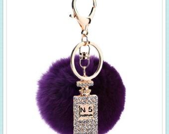 Designer inspired keychain - deep purple