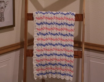 Ripples and Braids Crocheted Baby Blanket