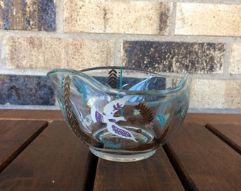 Retro/Vintage Georges Briard Birds of Paradise serving/candy/vanity dish
