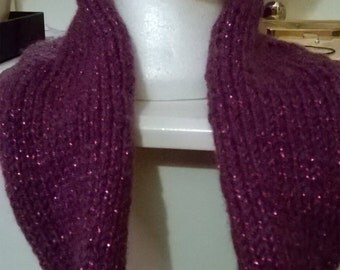 Snood - Purple with sparkly red fleck