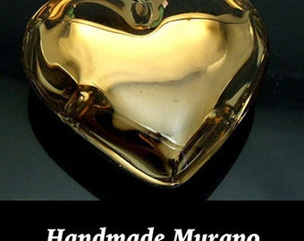 Art GLASS PeNDANT, Gold  **CLEARANCE & FREE Shipping **