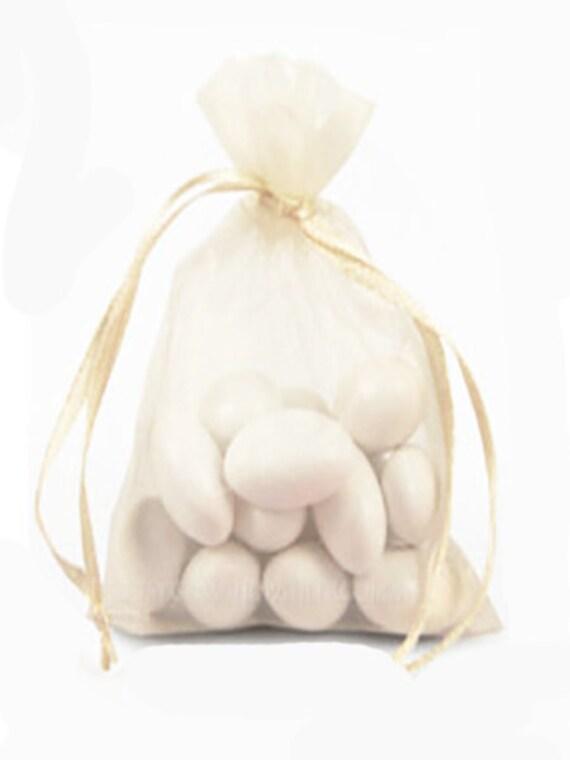 "Sheer Organza Bag-its, 12 pcs 4 1/2"" x 7"", Ivory   **FREE U.S. SHIPPING**"
