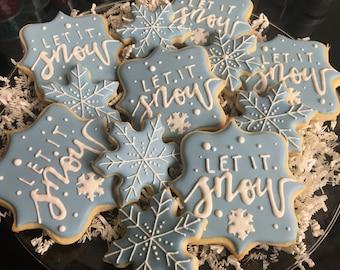 1 Dozen Let It Snow! Sugar Cookies
