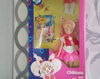 Sailor Chibi Moon doll european version collectors item vintage toy figure Chibiusa Lilly Rini RARE