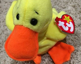 "Ty ""Quackers the Duck"" Beanie Baby"