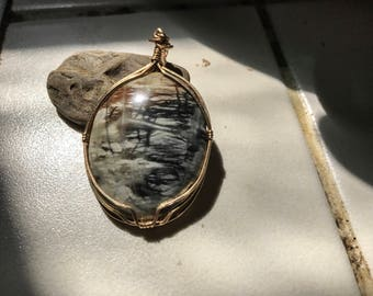 Picture Jasper Wirewrapped Pendant