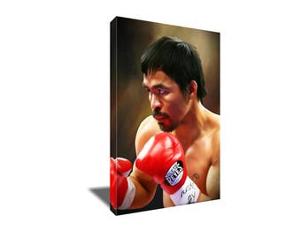 FREE SHIPPING Manny PACMAN Pacquiao Boxing Icon Canvas Art