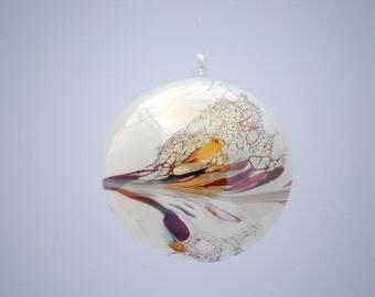 Handmade White Glass Ornament