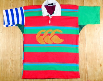 20% OFF Vintage New Zealand CANTERBURY Striped Rugby Jersey Rare Design