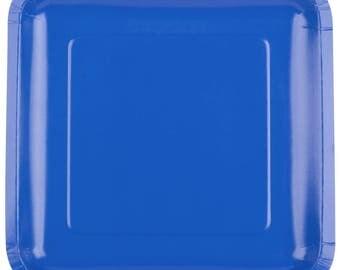 "25 (7"") Cobalt Blue Square Paper Plate, Wedding Supplies, Wedding, Wedding Decor, Party Supplies, Party, Paper Plate, Wedding, Tableware"