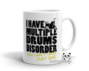 Passionate Drummer Mug - Multiple Drums Disorder Mug