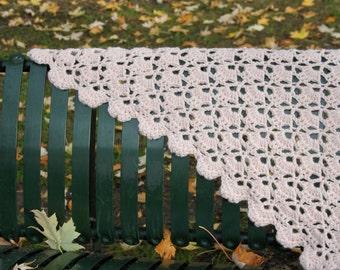Handmade crochet shawl/ wrap in babypink