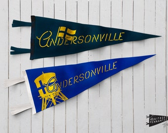"Andersonville Felt Pennant - 9""x24"" - Chicago Home Decor 