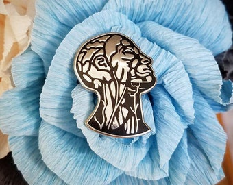 "Anatomy Head 1-1/8"" Enamel Pin"