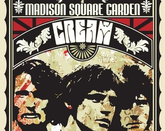 Vintage Music Art Poster - Cream At Madison Square Garden - 0260