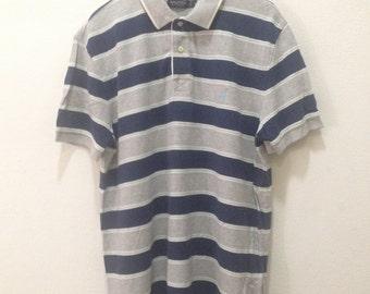 Nautica Shirt Mens Vintage Nautica Polo Shirt Nautica Stripe Shirt Nautica Sailing Polo Shirt Men's Size XL