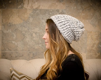 Knit Slouchy Beanie Hat // MADE TO ORDER