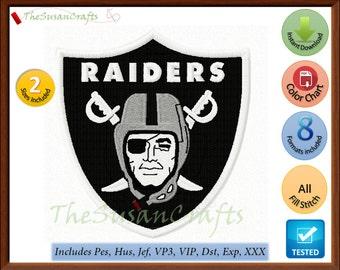 Oakland RAIDERS EMBROIDERY DESIGNS Pes, Hus, Jef, Dst, Exp, Vp3, Xxx, Vip