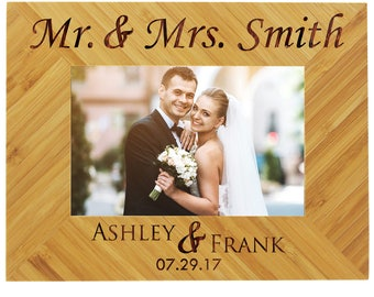 personalized wedding frame wood picture frame custom wedding frame wedding picture frame personalized frame wedding newlywed gift