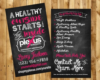 Plexus Chalkboard Business Cards, Plexus Business Cards, Plexus Business, Plexus Swag, Plexus