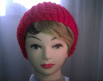 Youth red wool hat